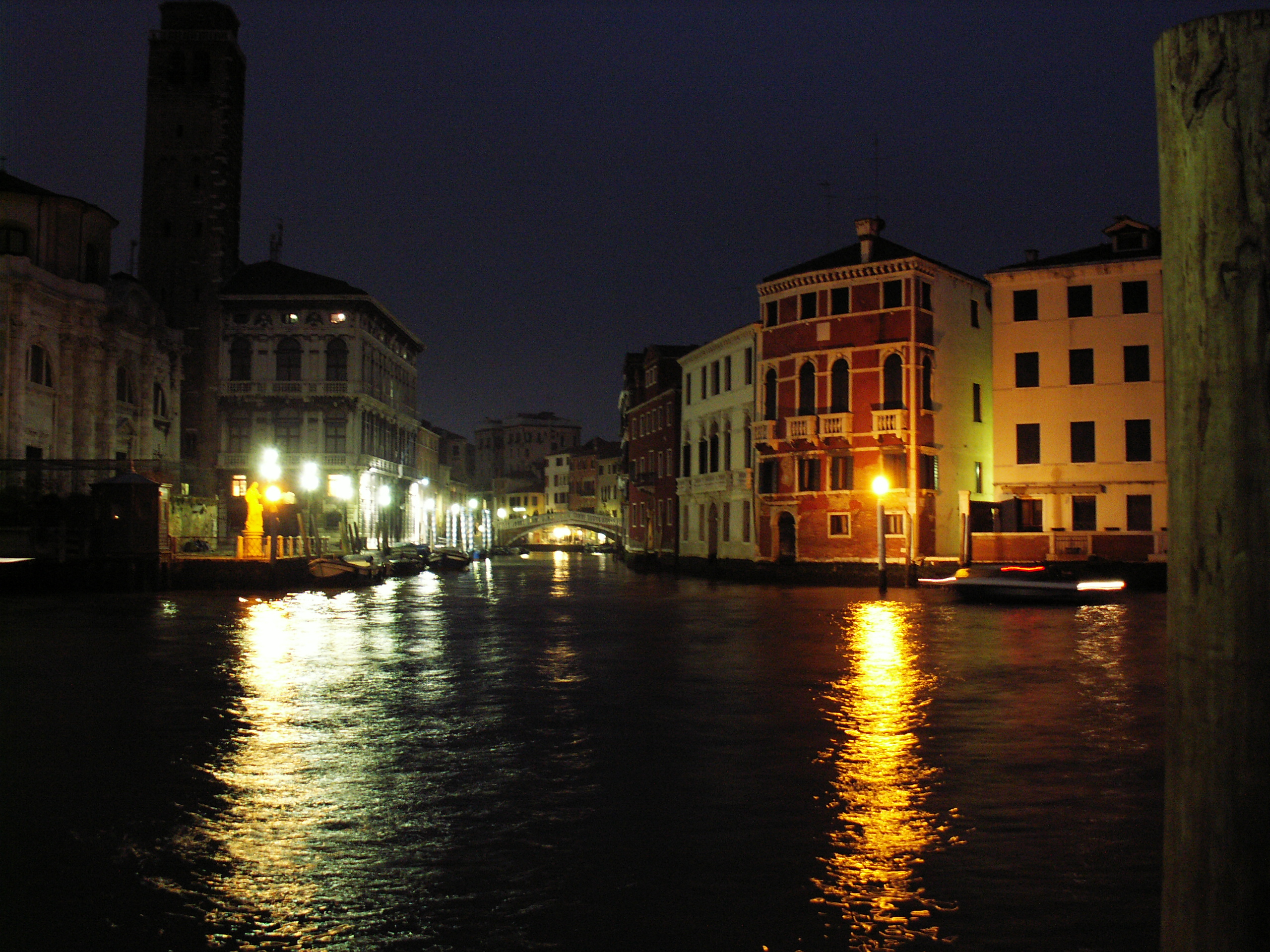Grand Canal Venice Night Grand Canal of Venice at Night